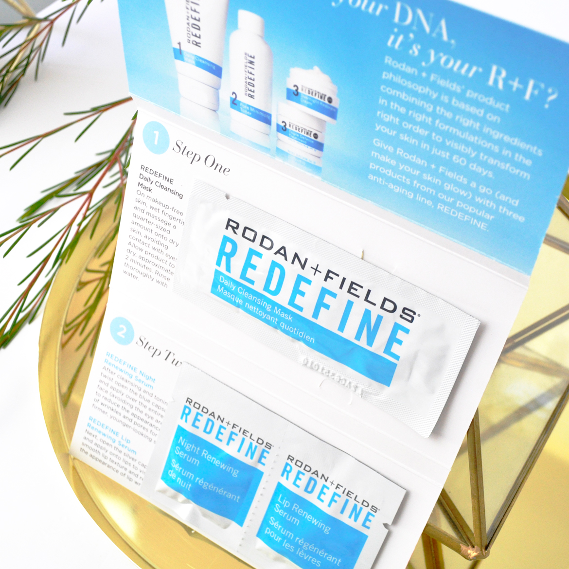 Rodan + Fields Daily Cleansing Mask, Night Renewing Serum and Lip Renewing Serum