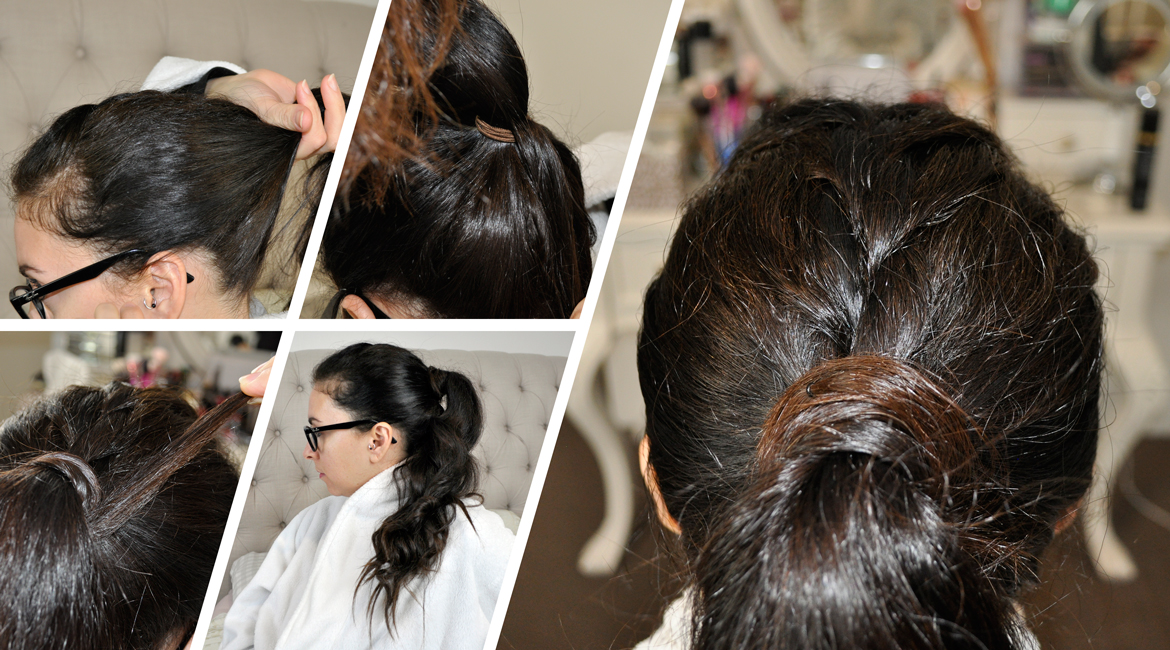Relaxed French Braid Faux Hawk Ponytail