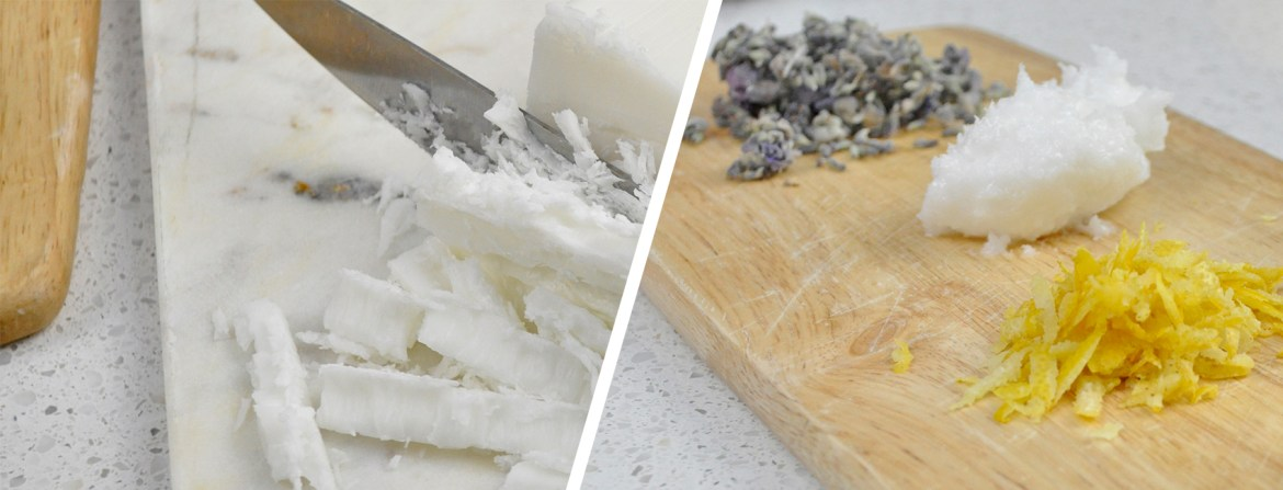DIY Lavender and Lemon Sugar Scrub Bars