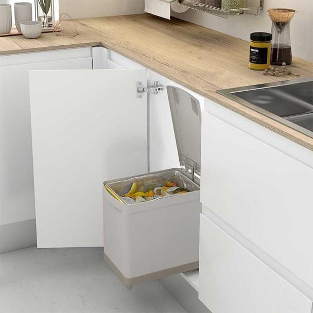 Cubo Basura Rectangular 16 L para Mueble de Cocina