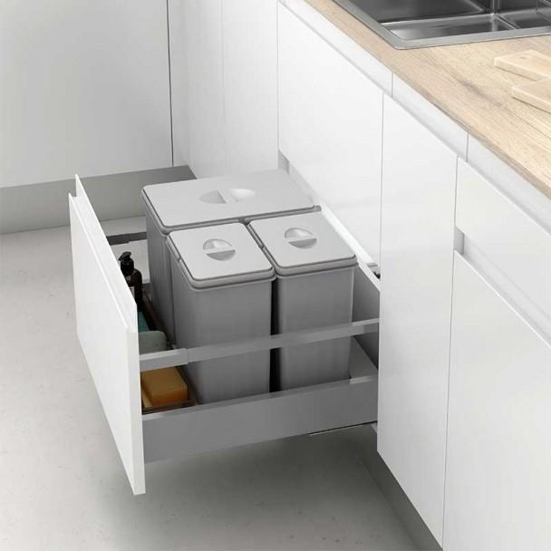 Cubos Reciclaje Basura Mod I para Cajn de Cocina