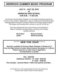 File Cabinet / Summer Music Program 2016
