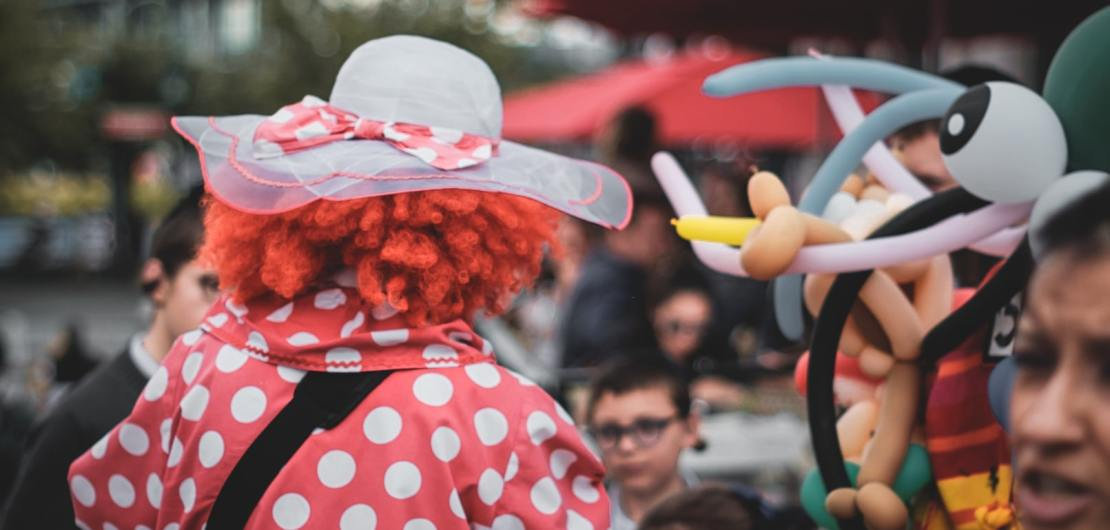 Clown am Karneval