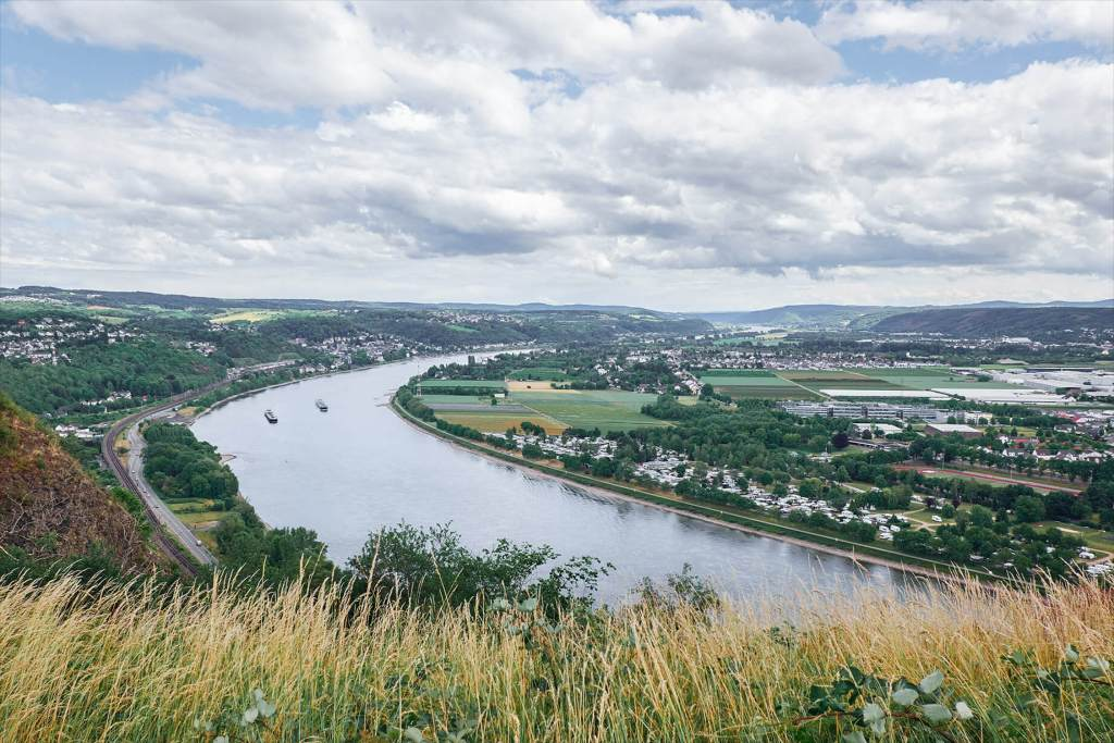 Aussicht in das Rheintal Richtung Linz
