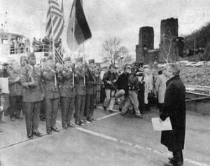 Gedenken am historischen Ort zwischen Amerikanern und Deutschen