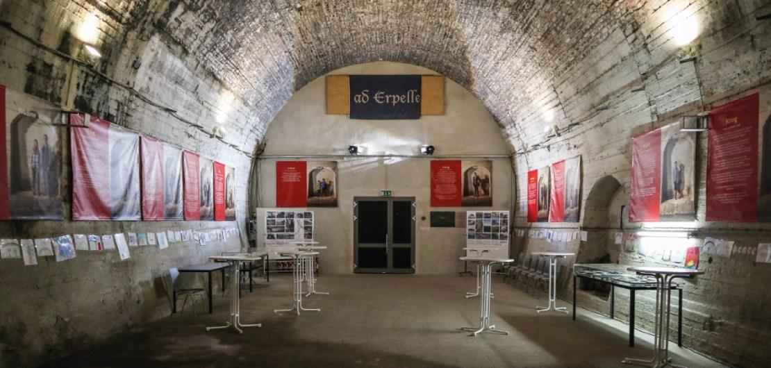 Das Tunnelfoyer in Erpel, in dem regelmäßige Kulturveranstaltungen stattfinden