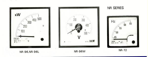 NR SERIES:AMMETER,VOLTMETER,FREQUENCY,WATT POWER METER