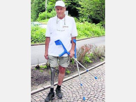 Vital und lebensfroh: Der begeisterte Wanderer Roland Zahn ermutigte bei seinem Vortrag im Klinikum Bad Hersfeld andere Amputierte zu mehr Bewegung. Foto: Eichenauer