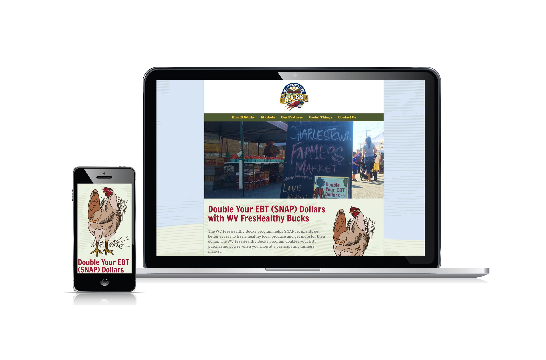WV FresHealthy Bucks website