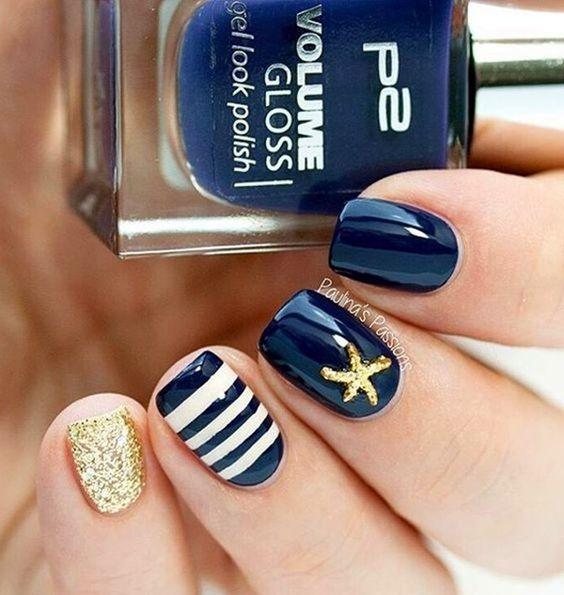 Beachy Summer Nail Design Cute Designs