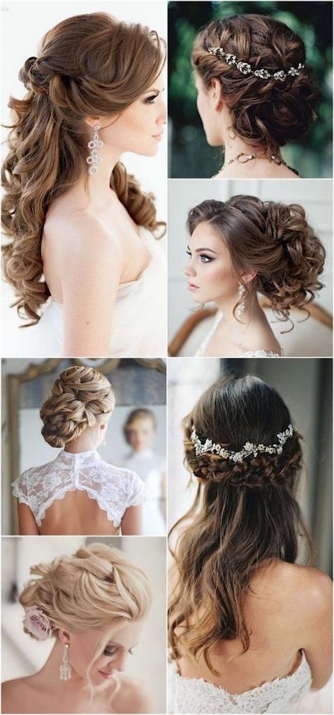 100 Romantic Long Wedding Hairstyles 2018  Curls Half