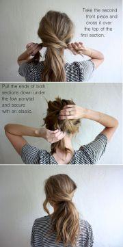 cute ponytails long & medium