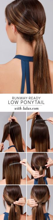 simple easy ponytail hairstyles