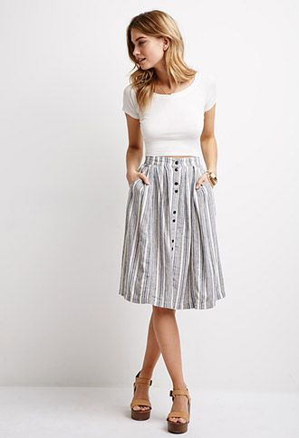How to Wear Midi Skirts