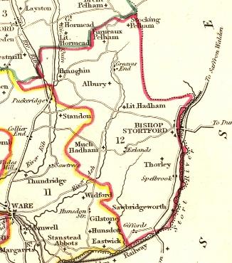Hertfordshire Genealogy Places Bishops Stortford Union