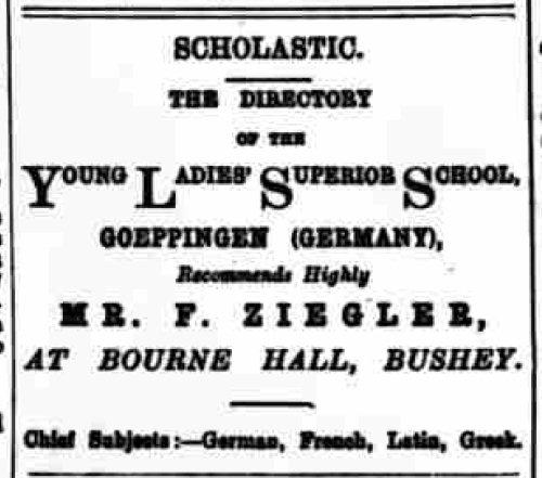 Hertfordshire Genealogy: Bourne Hall Academy, Bushey, Herts