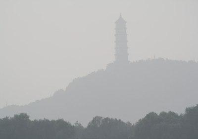 Pagoda in mist