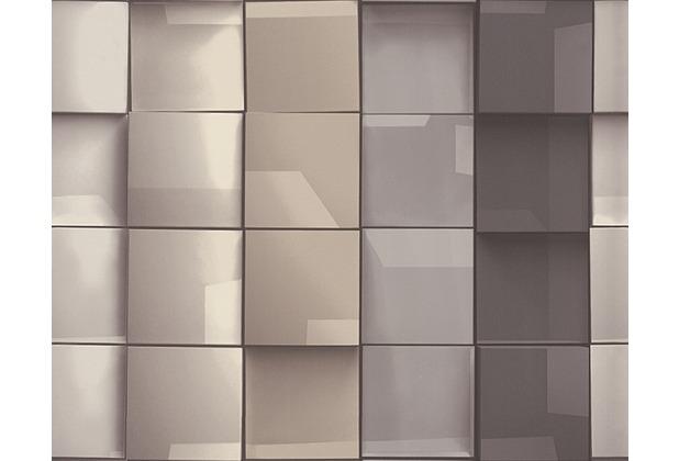 AS Cration Mustertapete in 3DOptik Move your Wall Tapete beige braun grau  Hertiede