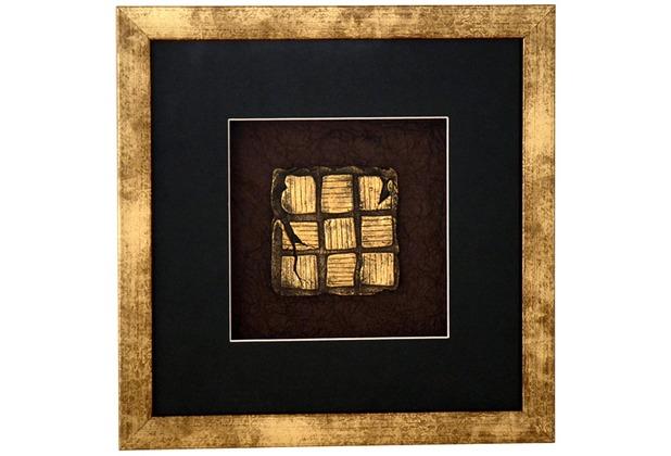 Hollnder Wandbild MICADO 1 HolzGlasKunststein gold