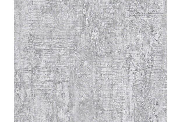 Schner Wohnen Uni Strukturtapete Tapete grau  Hertiede