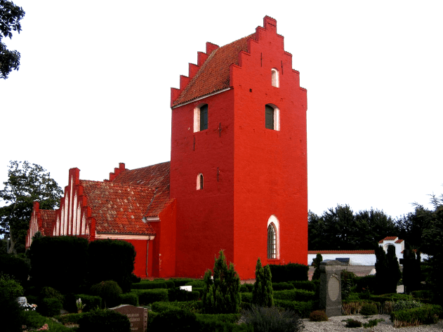Picture of a Danisc village church