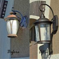 Replace Exterior Light Fixture. how to change exterior ...