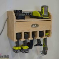 Cordless Drill Storage - Charging Station