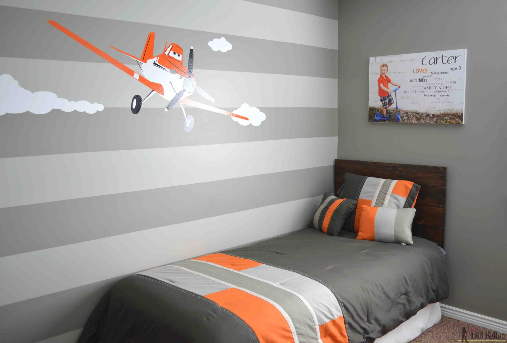 Simple Headboard And Dusty Theme Room Her Tool Belt