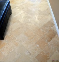 Travertine Tile on a Budget - Her Tool Belt