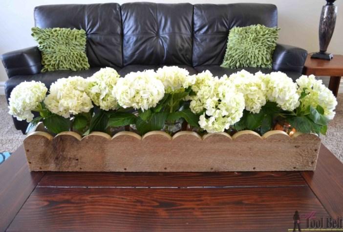 How to Build a Scalloped Planter Box Centerpiece