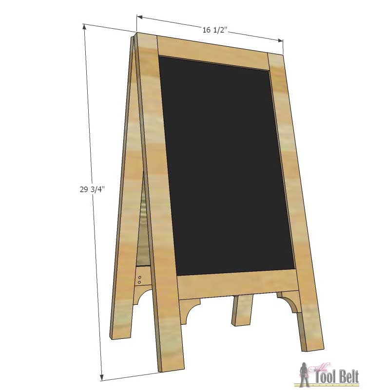a frame chalkboard easel
