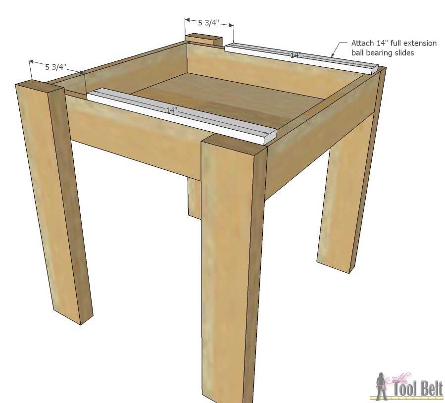 how to make a rocking chair not rock diy patio cushion covers simple kid's table and set - her tool belt