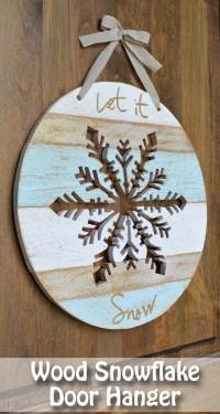 Let It Snow Wooden Snowflake - Her Tool Belt