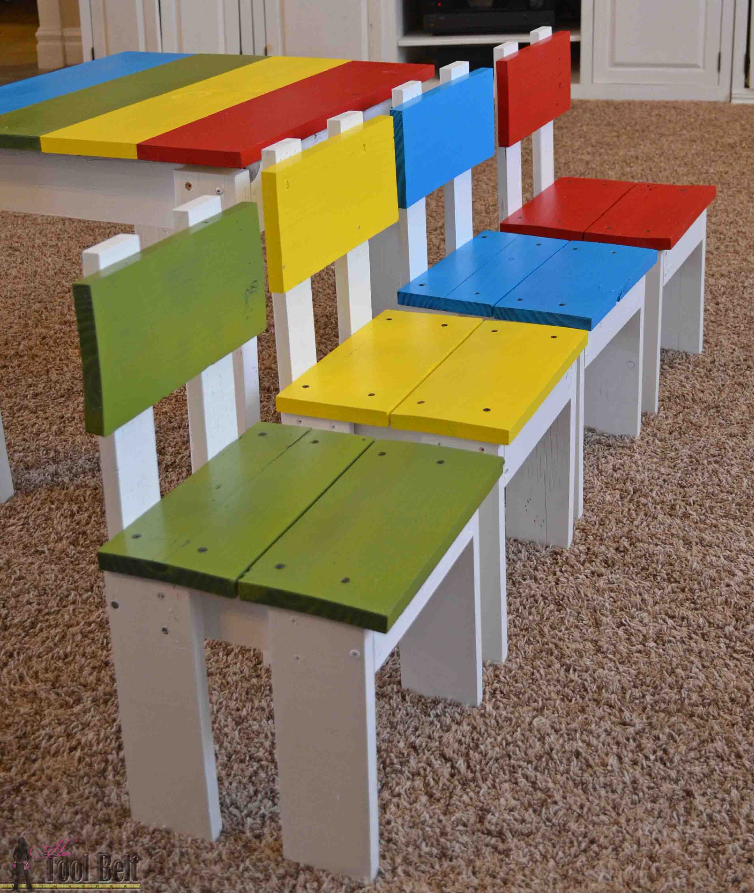 Simple Kids Table and Chair Set  Her Tool Belt