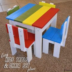 Kids Chair Set Cover Hire North East England Simple Kid S Table And Her Tool Belt Build An Easy For The Little Costs About