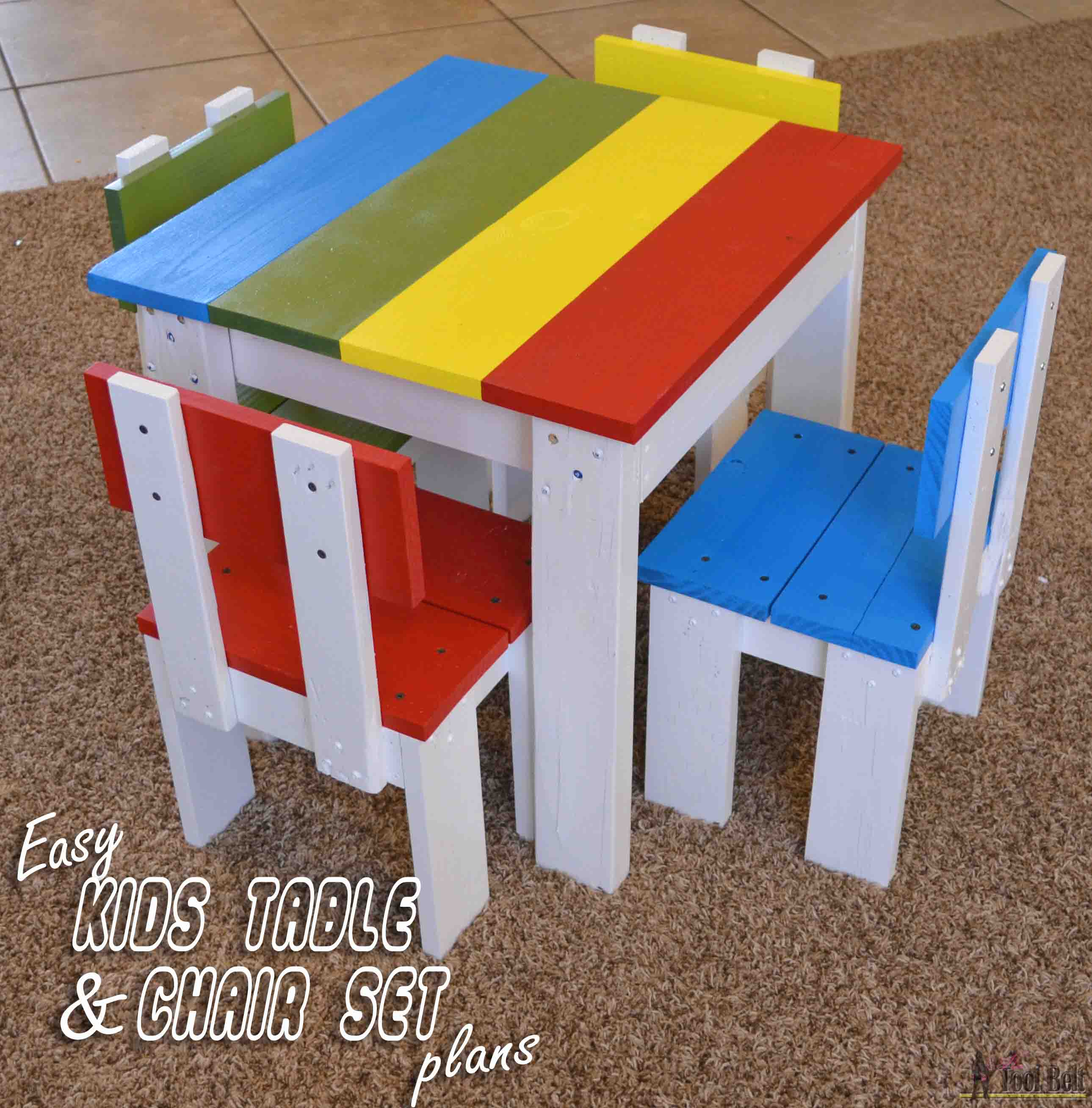 little kids table and chairs ikea white rocking chair simple kid 39s set her tool belt