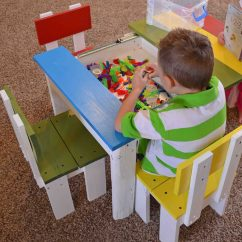 Kids Chair Set King Sugar Land Simple Kid S Table And Her Tool Belt Build An Easy With A Sliding Top To Store Legos