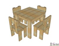 Simple Kid's Table and Chair Set