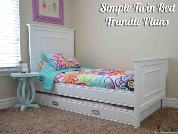 DIY Twin Bed with Trundle Plans