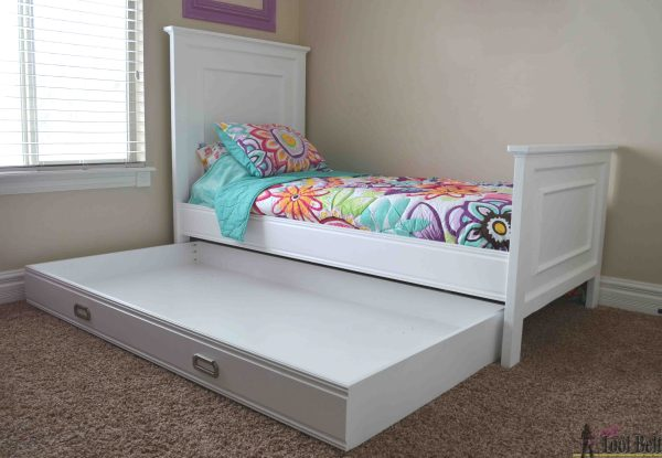 Twin Trundle Bed with Storage