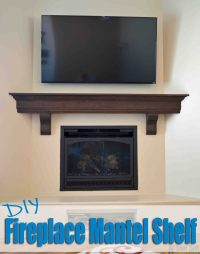 DIY Fireplace Mantel Shelf - Her Tool Belt