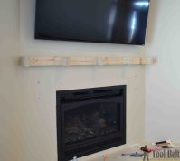 DIY Fireplace Mantel Shelf