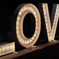 Wood DIY LOVE Marquee Letters