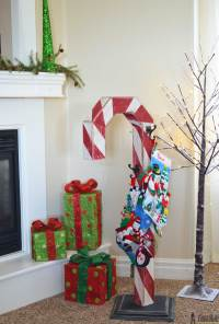 Candy Cane Holiday Stocking Post - Her Tool Belt
