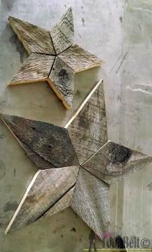 Rustic Patchwork Wood Stars - Tool Belt