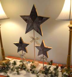 easily add natural elements into your christmas decor with these simple rustic patchwork wooden stars  [ 1000 x 1282 Pixel ]