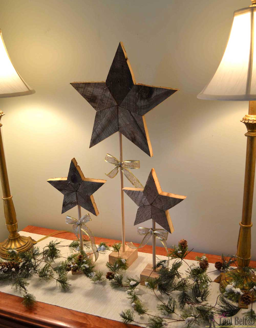 medium resolution of easily add natural elements into your christmas decor with these simple rustic patchwork wooden stars