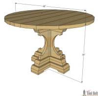Diy Round Farmhouse Table Plans   Brokeasshome.com