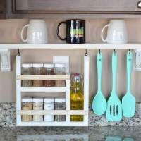 Kitchen Backsplash Shelf and Organizer