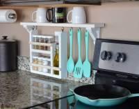 Kitchen Backsplash Shelf and Organizer - Her Tool Belt